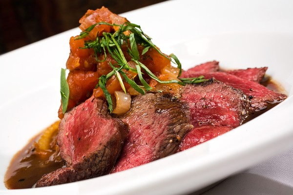 Grilled Flat Iron Steak With Chimichurri And Fingerling ...